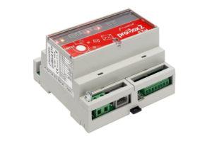 ProBox2ETH to urządzenie, którego zadaniem jest pozyskanie danych pomiarowych (oraz innych informacji towarzyszących) z różnych urządzeń pomiarowych (liczniki energii elektrycznej, wody, gazu, analizatory parametrów sieci itp.) oraz udostępnienie ich do nadrzędnym systemom komputerowym. Dzięki największej mocy obliczeniowej wśród urządzeń tego typu na rynku, proBox2/proBox2ETH może nie tylko pozyskać dane z mierników różnych mediów i przesłać je we wskazane lokalizacje sieciowe z wykorzystaniem szerokiego spektrum mediów transmisyjnych, ale także je przetworzyć w ustalonym zakresie (np. do formatu PTPiREE), a nawet zaprezentować na swojej wbudowanej stronie WWW. Więcej...