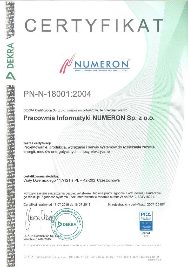 ISO18001 do 2018