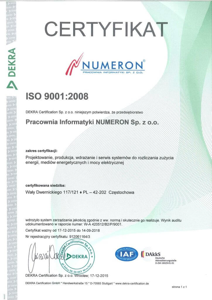 ISO9001 do 2018