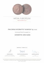 BCC medal pismo