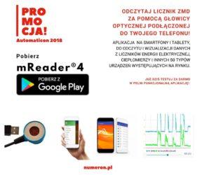 Promocja mReader4 - Automaticon 2018 - licznik ZMD