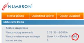 Aktualizacje firmware urządzeń Numeron