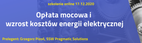 """Szkolenie """"Opłata mocowa i wzrost kosztów energii elektrycznej"""""""
